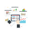 concept finance investment planning analytics vector image vector image