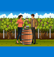 couple drinking wine vector image vector image
