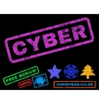 Cyber Rubber Stamp vector image vector image