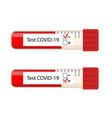 determination coronavirus in patients vector image vector image