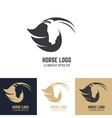 Emblem template with horse head Design elements vector image vector image