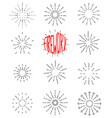 firework line icon set happy new year firework vector image vector image