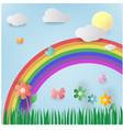 floral summer paper art vector image vector image