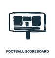 football scoreboard icon mobile apps printing vector image