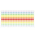 gear shape halftone spectral effect vector image vector image
