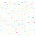 geometric memphis style seamless pattern vector image vector image