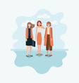 group of women using smartphone vector image vector image