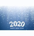 happy new 2020 year background vector image vector image
