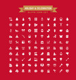 holiday and celebration glyph icon set vector image vector image