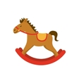 horse wood toy icon vector image vector image