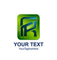 initial letter fk logo template colored green vector image vector image