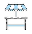 isolated table design vector image vector image