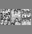 marble texture gray paint splash abstract vector image