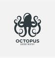 Octopus animal logo design on white background