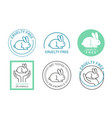 organic cosmetics icons logos thin line set vector image vector image