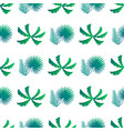 palm leaves and bushes pattern vector image