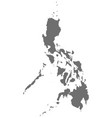 philippines map in gray vector image vector image