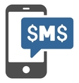 Phone SMS Flat Icon vector image vector image