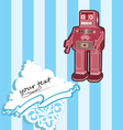 robot card with baroque elements vector image vector image