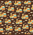 seamless pattern with train toys vector image