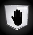 security shield design vector image vector image