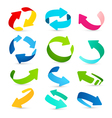 set colored arrows icons vector image