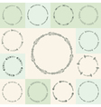 Set of hand-drawn flourish circle and frames in vector image vector image