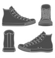 set of with sneakers gumshoes vector image