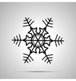 Simple black snowflake icon vector image