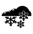 snowflake icon simple black style vector image vector image