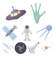 space set icons in cartoon style big collection vector image vector image