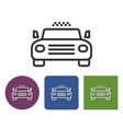 taxi line icon in different variants vector image
