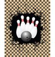 tenpin bowling vector image vector image