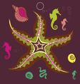 underwater star print vector image vector image