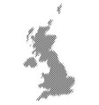 united kingdom map population demographics vector image vector image