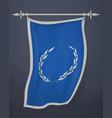 vertical banner with laurel wreath hanging wavy vector image vector image