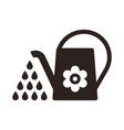 watering can irrigation symbol vector image vector image
