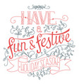 winter holidays poster vector image vector image