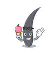 with ice cream hair character cartoon style vector image