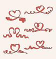 Heart ribbon set vector image