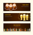 beer banners set vector image