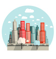 Flat Design City vector image