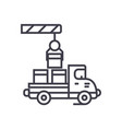 shipment line icon sign on vector image