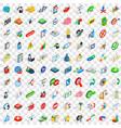 100 management icons set isometric 3d style