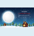 a merry christmas and happy new year template vector image vector image