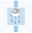 Birth card baby boy vector image