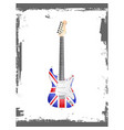 british rock and roll guitar vector image vector image