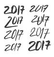 Brush Calligraphy 2017 vector image