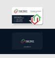 business card for a real estate auctioneer vector image vector image