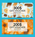cartoon bakery discount or gift voucher vector image vector image